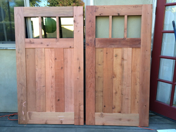 Redwood Craftsman gate