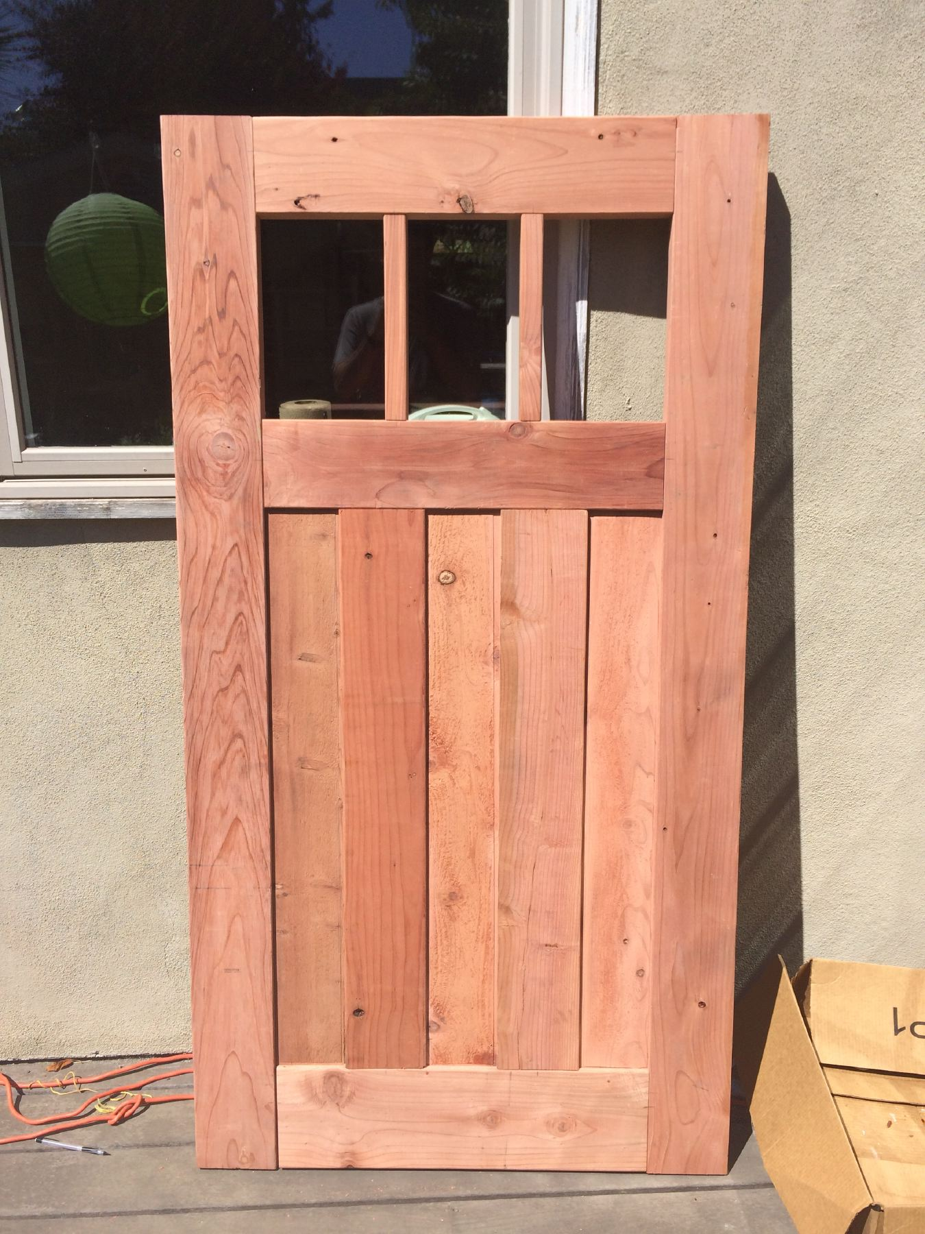 Designing And Building A Redwood Craftsman Fence Gate For