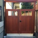 Finished DIY Redwood Craftsman Gate